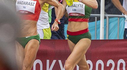 Lietuvos ėjikė Brigita Virbalytė alinančioje olimpinėje trasoje.