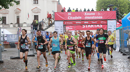 """Kaune startavo bėgimas """"Citadele Kauno maratonas"""""""