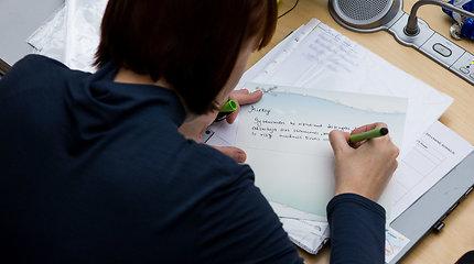 Biudžeto svarstymo metu sveikinimo atvirukus rašiusi D.Šakalienė: sunku ramiai išsėdėti