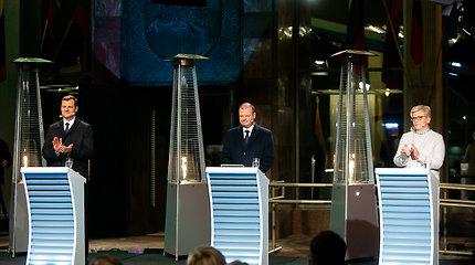Paskutiniuose debatuose prieš pirmą Seimo rinkimų turą – I.Šimonytės pažadas S.Skverneliui: netirsime