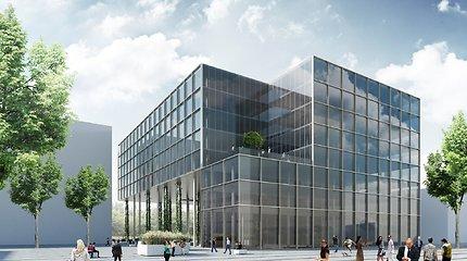 """Įvertinkite: išrinktas projektas """"Hanner"""" statomam verslo centrui buvusiame Žalgirio stadione"""