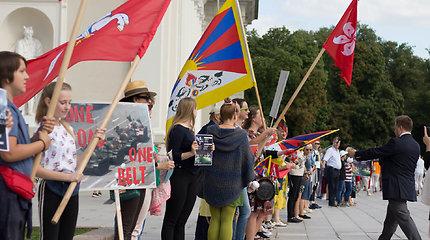 Vilniuje – paramos akcija Honkongo keliui ir Kinijos aktyvistų protestas