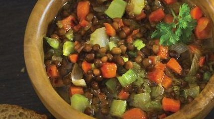 Lęšių sriuba su daržovėmis