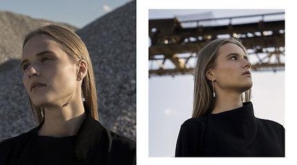 Juvelyrės Gerdos Liudvinavičiūtės kurti papuošalai iš betono.