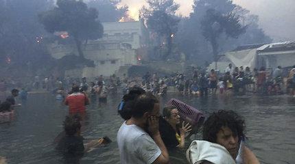 Pražūtingus miškų gaisrus išgyvenę žmonės pasidalijo sukrečiančiais vaizdo įrašais