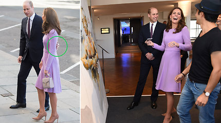 Pirmą kartą po pertraukos viešumoje su žmona pasirodęs princas Williamas pažeidė protokolą bei laidė sąmojus