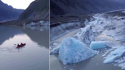 Pasiplaukiojimas kanojomis prie ledyno turistams baigėsi tragiškai: vandenyje išgyventi buvo neįmanoma