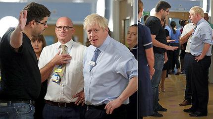Borisas Johnsonas to nesitikėjo: ligoninėje jį užsipuolė įsiutęs sergančios mergaitės tėtis