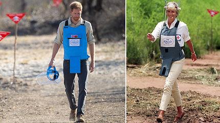 Princas Harry Angoloje atkartojo motinos Dianos žingsnius – vaikščiojo minų lauke