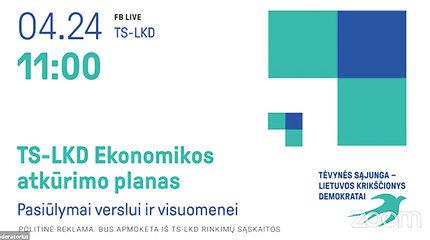 TS-LKD Ekonomikos atkūrimo planas – pasiūlymai verslui ir visuomenei