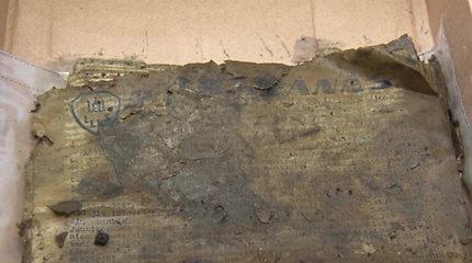 Identifikuoti Pakaunėje aptiktame bidone rasti partizanų dokumentai