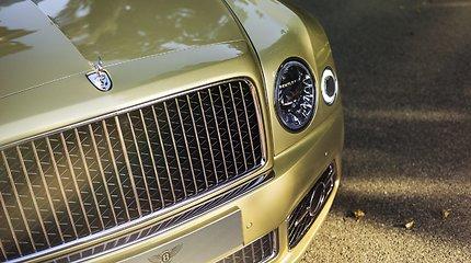 """Galingiausias prabangus sedanas """"Bentley Mulsanne Speed"""" Lietuvoje"""