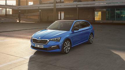 """Pristatytas naujas """"Škoda"""" šeimos narys – kompaktinės klasės """"Scala"""""""