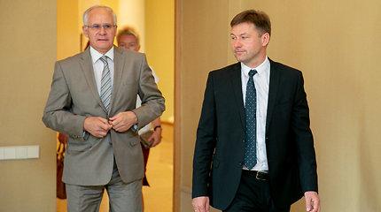 Algirdo Monkevičiaus ir Andriaus Navicko spaudos konferencija