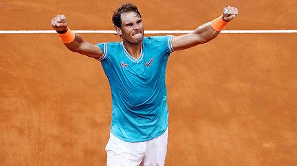 """ATP """"Masters"""" turnyro Romoje finalo akimirkos – Rafaelis Nadalis prieš Novaką Džokovičių"""