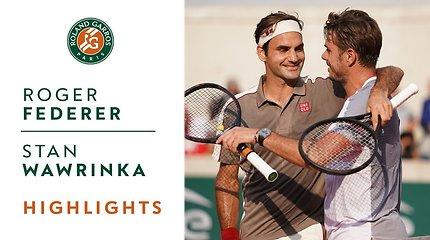 Rogeris Federeris prieš Staną Wawrinką. Dvikovos akimirkos
