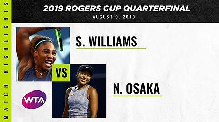 Serena Williams – Naomi Osaka. Gražiausi dvikovos taškai