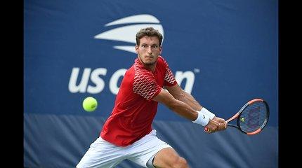 """""""US Open"""": Pablo Carreno-Busta prieš Ričardą Berankį"""