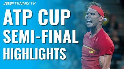 ATP taurės pusfinalių apžvalga: finale susigrums du geriausi pasaulio tenisininkai