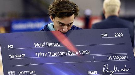 Jaunasis šuolio į aukštį meistras antrą kartą per savaitę pagerino pasaulio rekordą