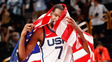 Olimpinio krepšinio turnyro MVP – K.Durantas, atskleistas ir simbolinis penketas