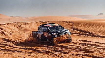 Edvinas Juškauskas ir Aisvydas Paliukėnas Dakare 2021 m.