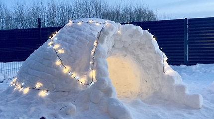 Vieno kambario sniego namelis Kaune