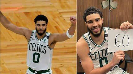 """""""Celtics"""" žvaigždės sprogimas – pakartojo beveik 40 metų nepaliestą Larry Birdo taškų rekordą"""