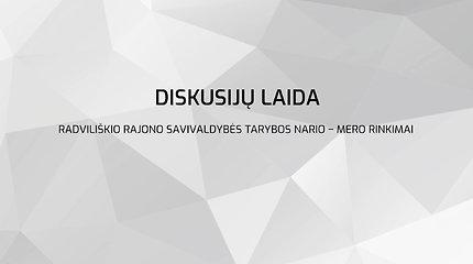 Radviliškio rajono savivaldybės tarybos nario – mero rinkimų diskusijų programų 2 laida