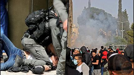 Protestai Izraelyje kelia nerimą – per naujus susirėmimus sužaloti šimtai žmonių
