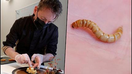 Europos maisto saugos tarnyba leido žmonėms vartoti kirmėles – šefas iš Prancūzijos jau pasiūlė meniu