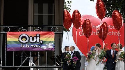 Istorine diena homoseksualų teisėms Šveicarijoje – pritarė tos pačios lyties asmenų santuokų legalizavimui