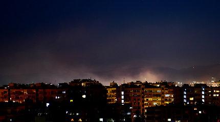 Sirija virš Damasko numušė Izraelio paleistų raketų