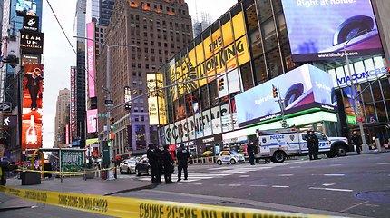 Per šaudymą Niujorko Taimso aikštėje sužeisti trys žmonės, įskaitant vaiką