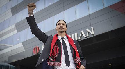 """Šiltai Milane sutiktas Z.Ibrahimovičius: """"Šis iššūkis man suteikia adrenalino"""""""