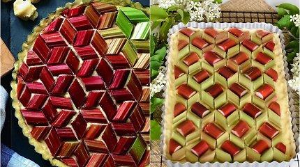 Pasisemkite įkvėpimo: rabarbarų pyragų kepėjai dėlioja nuostabias mozaikas