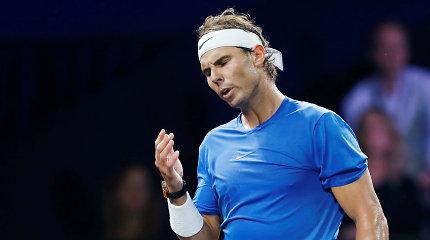 """""""Laver Cup"""": smūgis Europos komandai – dėl traumos pasitraukė R.Nadalis"""