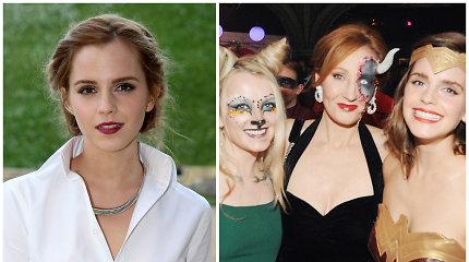 """""""Hario Poterio"""" autorė J.K.Rowling atšventė gimtadienį: kultinio filmo aktoriai tapo superherojais"""