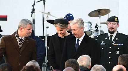 Briuselio atakų metines mininti Belgija pagerbė aukas tylos minute