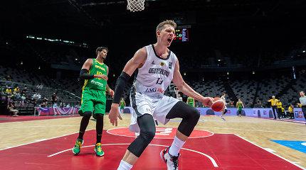 NBA rungtyniaujantis aukštaūgis išvedė Vokietiją į Tokijo olimpines žaidynes