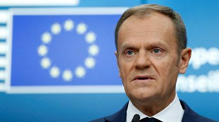 """ES pritarė """"Brexit"""" atidėjimui laikotarpiui iki trijų mėnesių"""