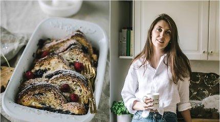 """""""Duonos ir žaidimų"""" receptas: skrebučių pudingas su uogiene šventiniams ar savaitgalio pusryčiams"""