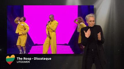 """Internete žaibiškai plinta """"Discoteque"""" vertimas į gestų kalbą: olandė daugelį sužavėjo savo šokiu"""