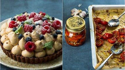 Šaltą rudenį sušildys konservuotos aitriosios paprikos, kepti pomidoriukai ir riešutinis desertas