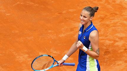 Karolina Pliškova – stipriausia tenisininkė Romoje