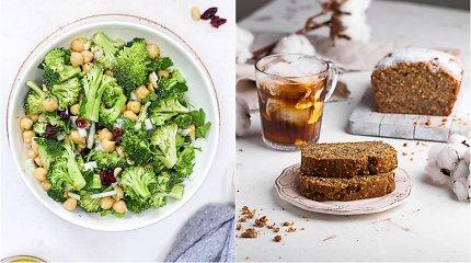 auGalingas iššūkis: brokolių salotos su avinžirniais ir veganiška bananų duona