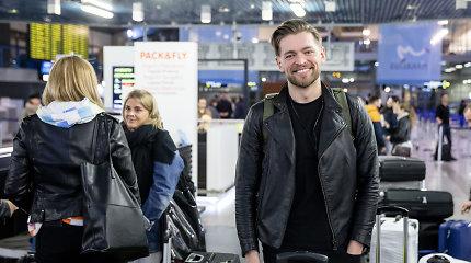 Jurijus Veklenko su gausia komanda išskrido į Tel Avivą: lagamine – ir mamos dovanotas talismanas