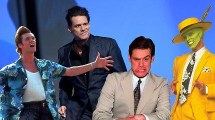 Testas: ar pažinsite bent 9 iš 12-os filmų, kuriuose vaidino Jimas Carrey?