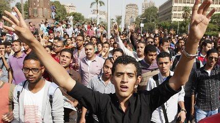 Egipto policija įtariama panaudojus ašarines dujas prieš protestuojančius islamo studentus