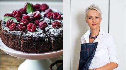 Nidos receptas: šokoladinis pyragas su avietėmis